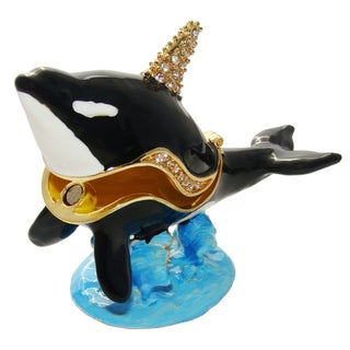 Objet d'art 'Cruiser' Killer Whale Trinket Box