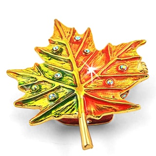 Objet d'art 'Autumn Color Maple Leaf' Trinket Box