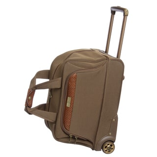 Tommy Bahama Olive 19-inch Rolling Carry-on Upright Duffel Bag