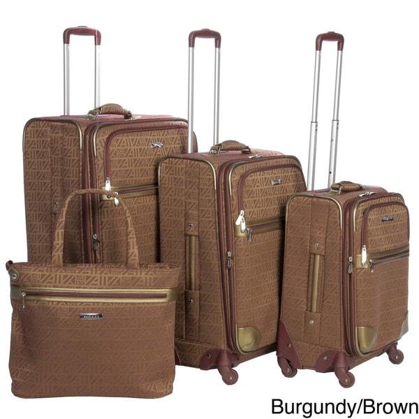 Anne Klein Auto Pilot II 4-piece Fashion Spinner Luggage Set