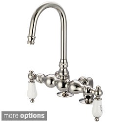 Water Creation F6-0016-05 Vintage Classic 3-3/8-inch Center Deck Mount Tub Faucet with Gooseneck Spout and 2-inch Risers