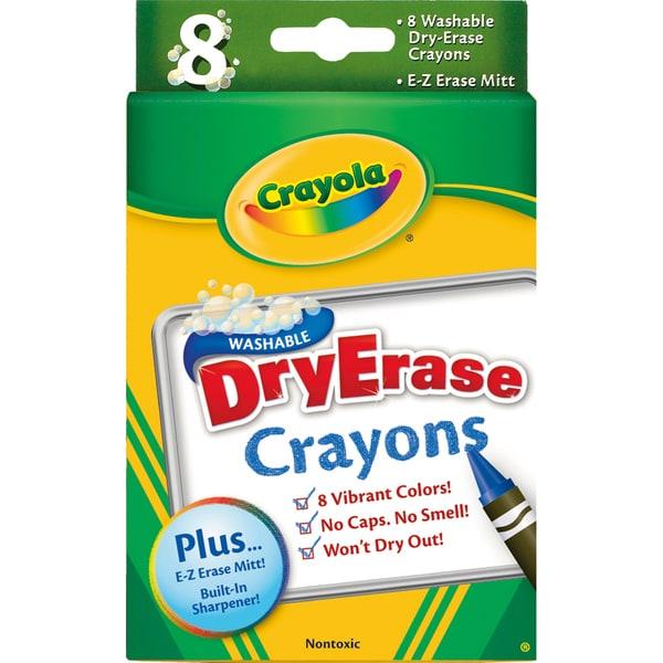Crayola Dry-Erase Crayons (Pack of 8)
