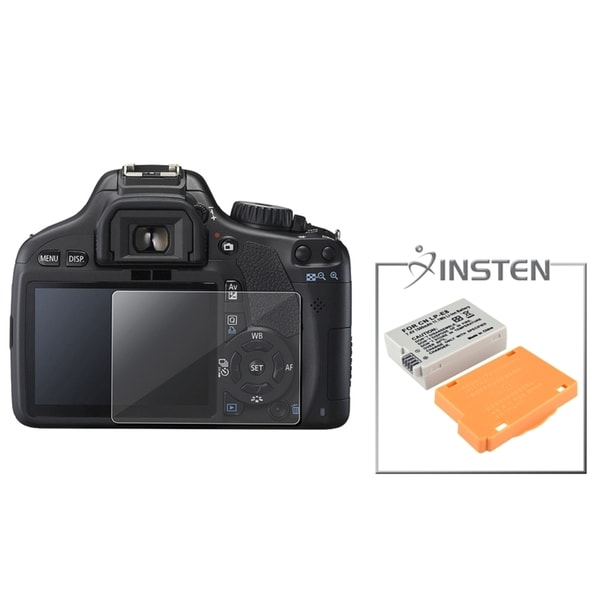 INSTEN Battery/ Screen Protector for Canon LP-E8 EOS Rebel T2i/ 550D