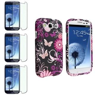 BasAcc Rubber Case/Diamond Screen Protector for Samsung� Galaxy S III/S3
