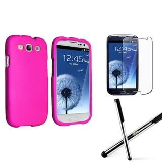 BasAcc Hot Pink Case/Screen Protector/Stylus for Samsung� Galaxy S III/S3