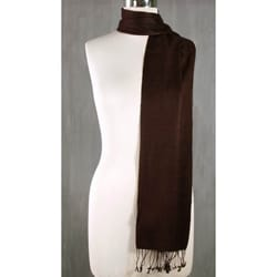 Wool and Silk 'Kashmiri Chocolate' Scarf (India)