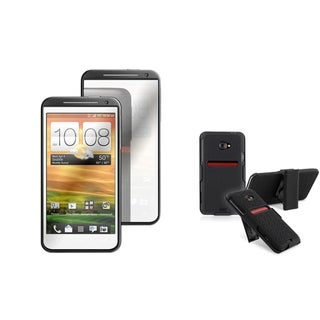 BasAcc Holster with Stand/ Mirror LCD Protector for HTC EVO 4G LTE
