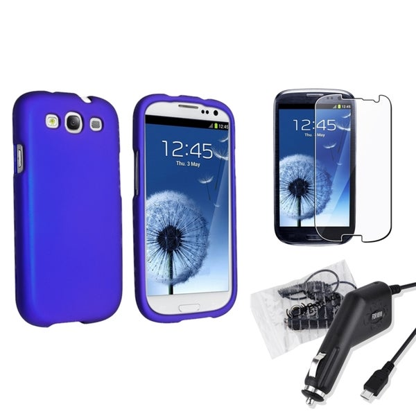 INSTEN Phone Case Cover/ Screen Protector/ Charger for Samsung Galaxy S III/ S3