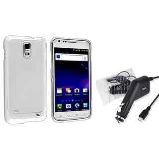 INSTEN Phone Case Cover/ Car Charger for Samsung Galaxy S II/ S2 Skyrocket i727