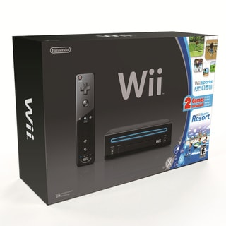 Wii - Black Console with Wii Sports & Wii Sports Resort