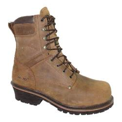 Men's AdTec 9490 Broad Steel Toe Super Logger Boot 9in Brown