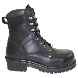 Men's AdTec 9491 Broad Steel Toe Super Logger Boot 9in Black