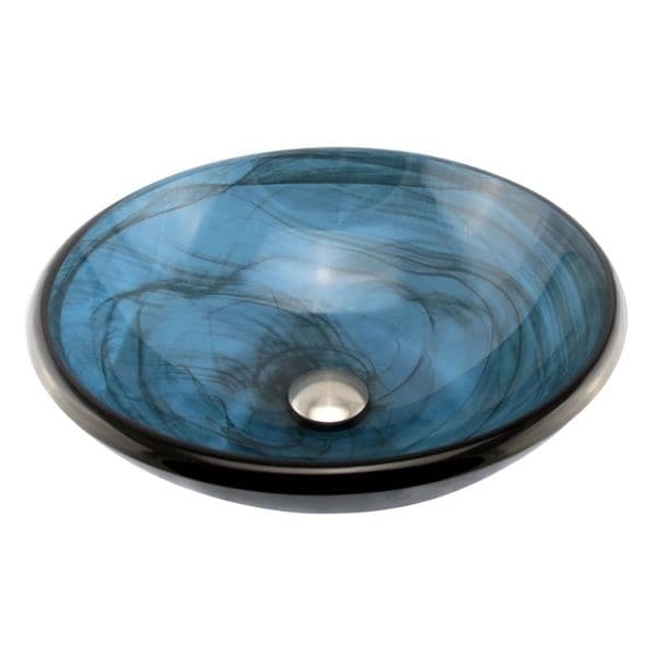 Tempered Glass Vessel Sink : Elite Tempered Glass Swirl Pattern Vessel Sink - Overstock Shopping ...