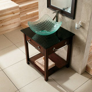 Elite Clear Tempered Glass Square Texture Sink