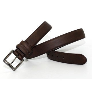 Toneka Men's Hornback Fashion Faux-leather Dress Belt