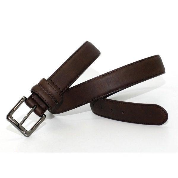 Toneka Men's Hornback Fashion Faux-leather Dress Belt