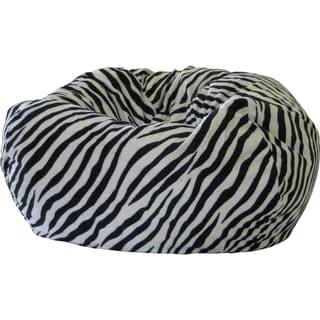Gold Medal Zebra Microfiber Suede Small/ Toddler Safari Bean Bag