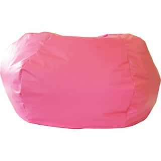 Gold Medal Hot Pink Leather Look Vinyl Extra Large Bean Bag