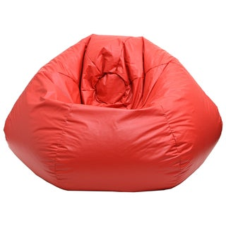 Gold Medal Red Leather Look Vinyl Extra Large Bean Bag