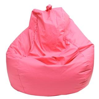 Gold Medal Hot Pink Leather Look Vinyl Large Tear Drop Bean Bag