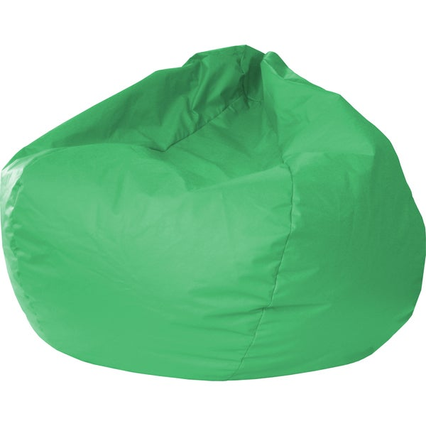 Gold Medal Green Leather Look Extra Large Bean Bag