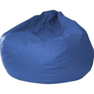 Gold Medal Medium Blue Leather Look Vinyl Extra Large Bean Bag