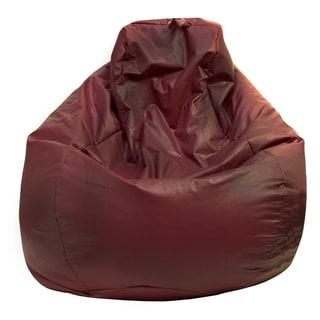 Gold Medal Wine Leather Look Vinyl Large Tear Drop Bean Bag