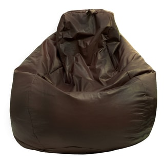 Gold Medal Walnut Leather Look Large Tear Drop Bean Bag