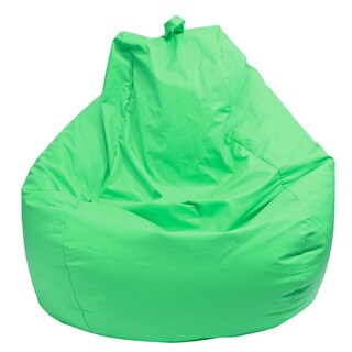 Gold Medal Green Leather Look Large Tear Drop Bean Bag