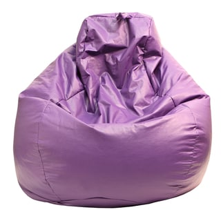 Gold Medal Purple Leather Look Large Tear Drop Bean Bag