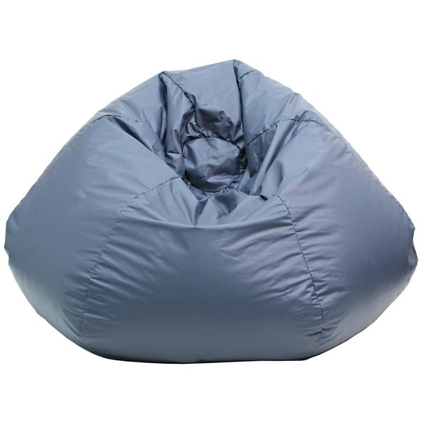Gold Medal Navy Blue Leather Look Medium/ Tween Bean Bag
