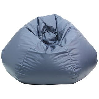 Gold Medal Navy Blue Leather Look Medium/ Tween Bean Bag