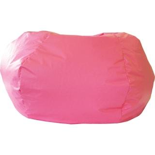 Gold Medal Hot Pink Leather Look Medium/ Tween Bean Bag