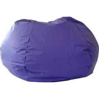 Gold Medal Purple Leather Look Vinyl Medium/ Tween Bean Bag