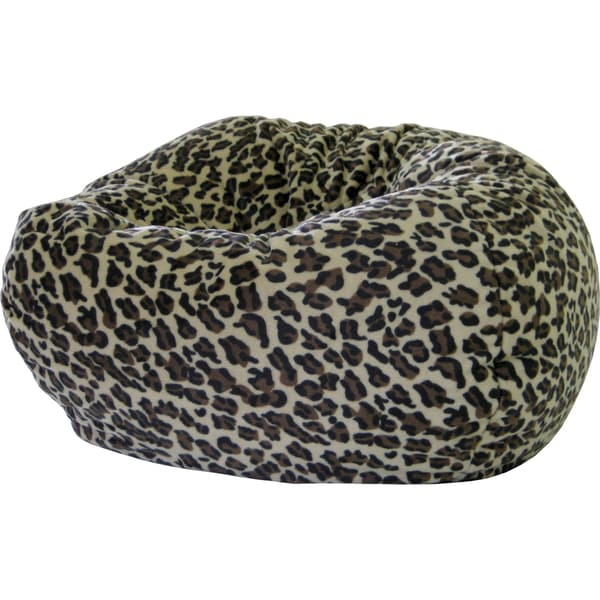 Gold Medal Leopard Microfiber Suede Medium/ Tween Animal Bean Bag