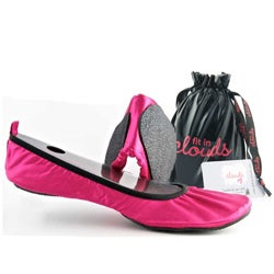 Fit in Clouds Women's Pink Satin Folding Shoes