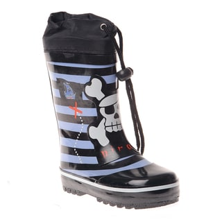 Henry Ferrera Boys Striped and Pirate Printed Rain boot