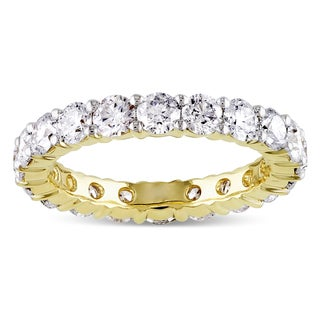 Miadora 14k Yellow Gold 1/3ct to 3ct TDW Diamond Eternity Ring (G-H, I1-I2)