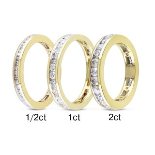 Miadora 14k Yellow Gold 1/2ct to 2ct TDW Channel Set Diamond Band (G-H, I1-I2)
