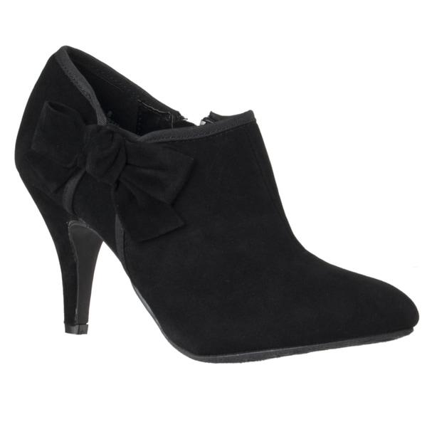 Riverberry Women's 'Tulip' Black Bow-detail Stiletto Booties