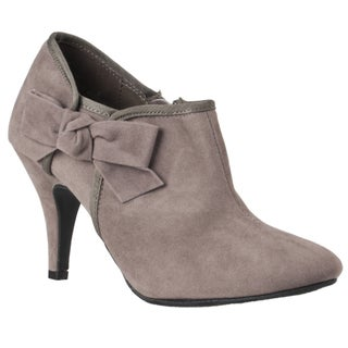 Riverberry Women's 'Tulip' Bow-detail Stiletto Booties
