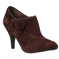 Riverberry Women&#39;s &#39;Tulip&#39; Tabacco Bow-detail Stiletto Booties