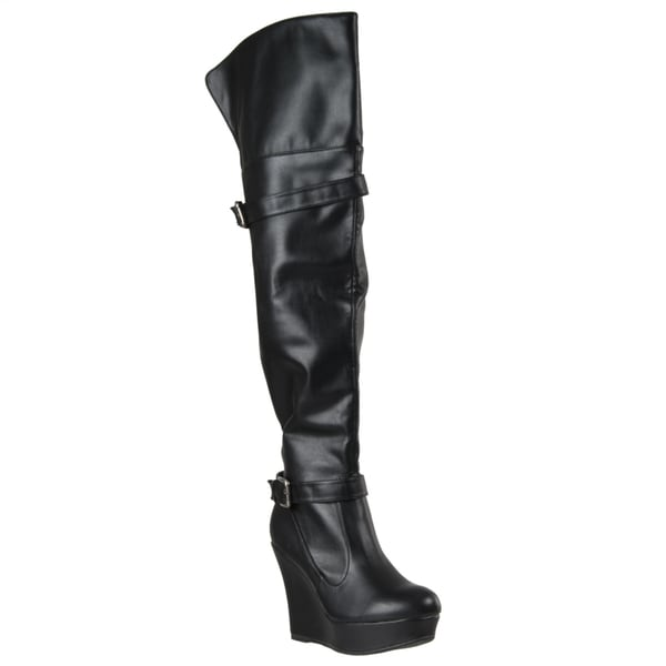 Riverberry Women's 'Charli' Over-the-knee Platform Wedge Boots