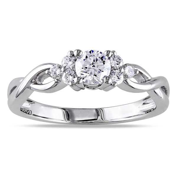 Miadora Signature Collection 14k White Gold 1/2ct TDW Diamond Ring (G-H, I1-I2)