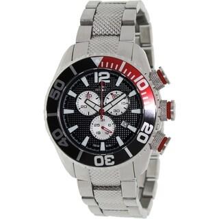 Swiss Precimax Men's Deep Blue Pro II Chronograph Watch with Black Dial