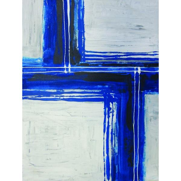 Sunpan 'Blue Abstract' Original Art