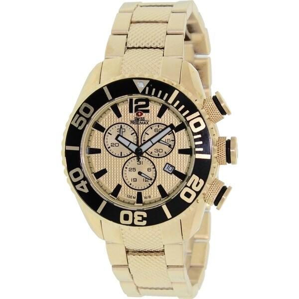 Swiss Precimax Men's Deep Blue Pro II Chronograph Watch with Luminous Hands/Markers
