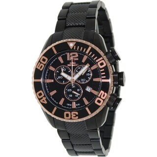 Swiss Precimax Men's Deep Blue Pro II Black Chronograph Watch