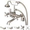 Water Creation F6-0009-02 Vintage Classic Adjustable Center Wall Mount Tub Faucet with Swivel Wall Connector and Handheld Shower