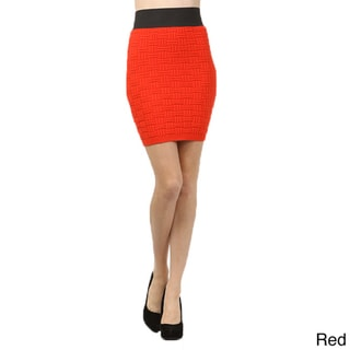 Tabeez Knit Basketweave Skirt